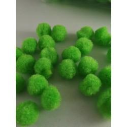 Pompony zielone 1,5cm, 100szt