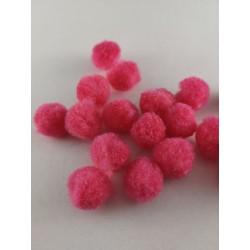 Pompony różowe 1,5cm, 100szt