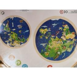 Puzzle mapa świata -...