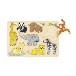 Puzzle wtykowe - Dzikie...