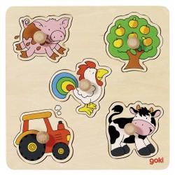 Puzzle  wtykowe - Na wsi -...