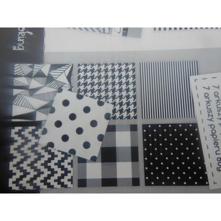 Blok kreatywny - czarne-białe