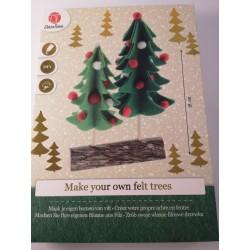 Drzewka filcowe - zestaw...