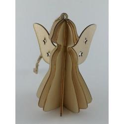 Anioł składany - sklejka 10cm