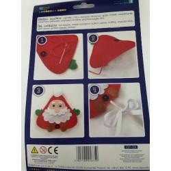Mikołaj z filcu na patyku -...