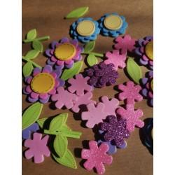Kwiatki i łodyżki - pianki...