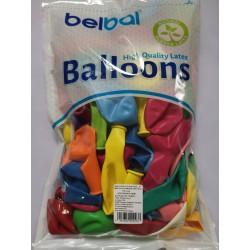 Balony pastelowe 100szt, mix