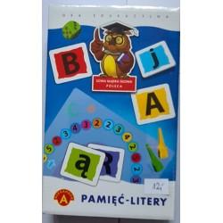 Pamięć litery - gra edukacyjna