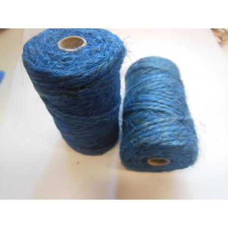 Sznurek jutowy - niebieski 25m