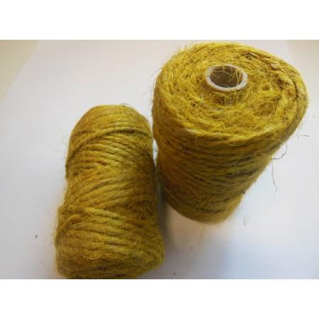 Sznurek jutowy żółty - 25m