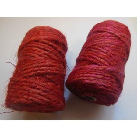 Sznurek jutowy czerwony - 25m