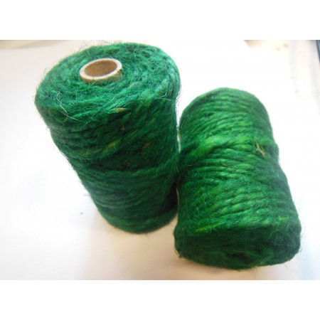 Sznurek jutowy zielony - 25m