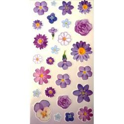 Naklejki kwiatki fioletowe