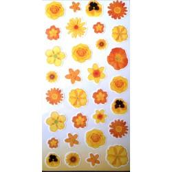 Naklejki kwiatki żółte