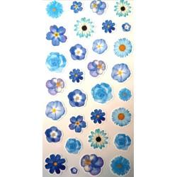 Naklejki kwiatki niebieskie