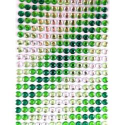 Dżety -mix zielony -6mm/504szt