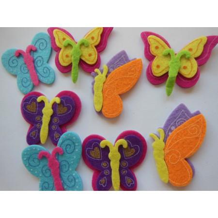 Filce samoprzylepne Motylki...