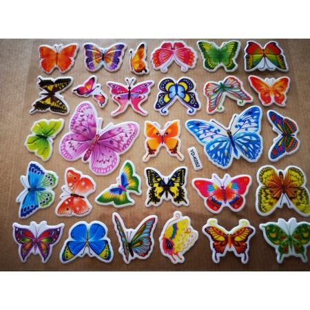 Naklejki wypukłe motylki,...