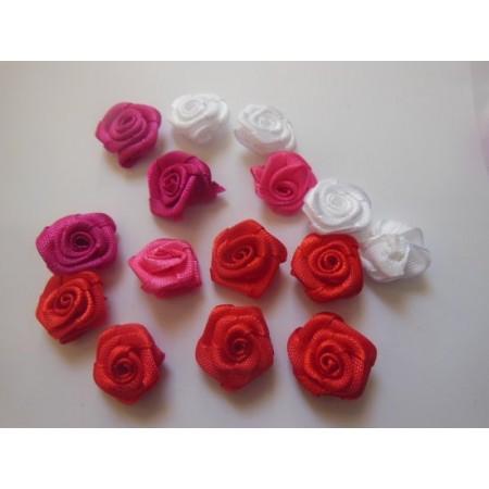 Różyczki materiałowe 1cm, w...