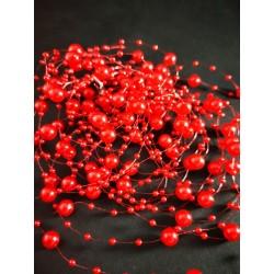 Girlanda czerwona 130cmx5szt.