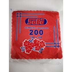 Serwetki czerwone, 200szt.