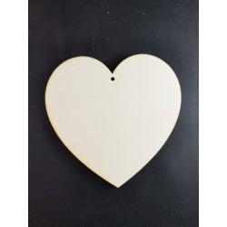 Serce 15cm, sklejka, z dziurką