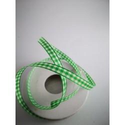 Tasiemka w kratkę zielona
