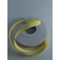 Tasiemka w kratkę żółta