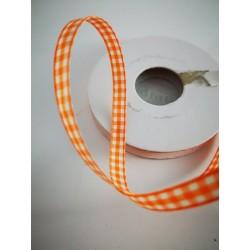 Tasiemka w kratkę pomarańczowa