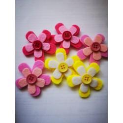 Kwiatki z guziczkiem, 12szt.